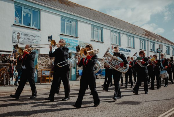 Porthleven Town Band will open Porthleven Food Festival's music programme