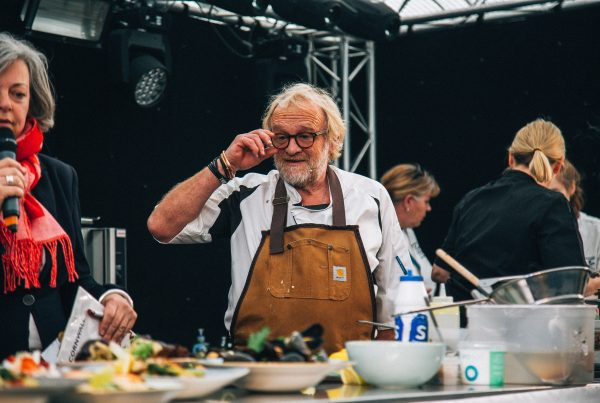 Chef's Theatre with Antony Worrall Thompson at Porthleven Food Festival