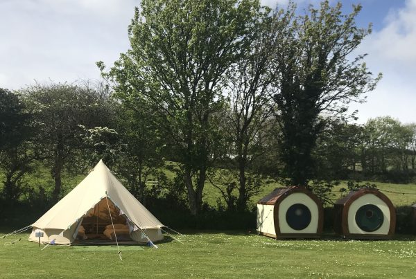 Picture of Bell Tent and Hobbit Huts at Porthleven Food Festival