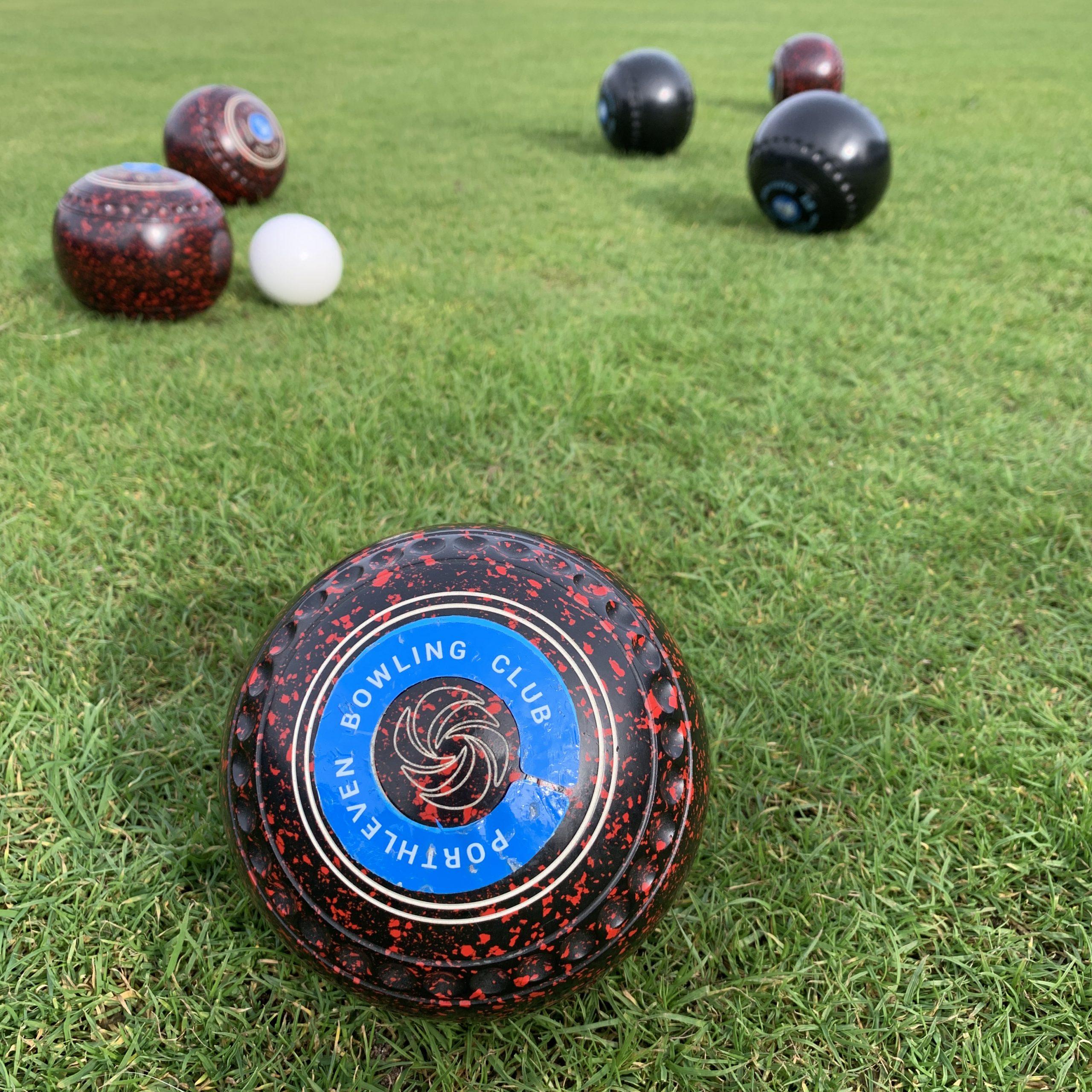 Porthleven Bowling Club bowling balls